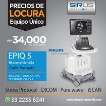 Ultrasonido Philips EPIQ 5, Equipo Cardiovascular Re-acondicionado