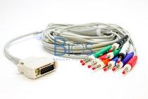 Cable EKG Mortara Generico, 10 Leads, Banana 4.0 mm, AHA