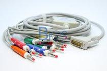 Cable EKG Schiller Generico, 15 Pins, 10 Lead, Banana, AHA