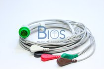 Cable ECG Mindray Generico .T5 12 Pins, 5-Leads, Snap, AHA