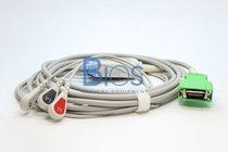 Cable ECG Nihon Kohden Generico. 20 Pins, 3-Leads, Snap, AHA