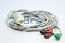 Cable ECG PHILIPS Generico. 12 Pins, 5-Leads, Snap, AHA